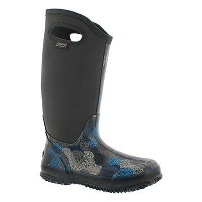 Bogs Bottes imperméables CLASSIC ROSEY TALL, gris, fem