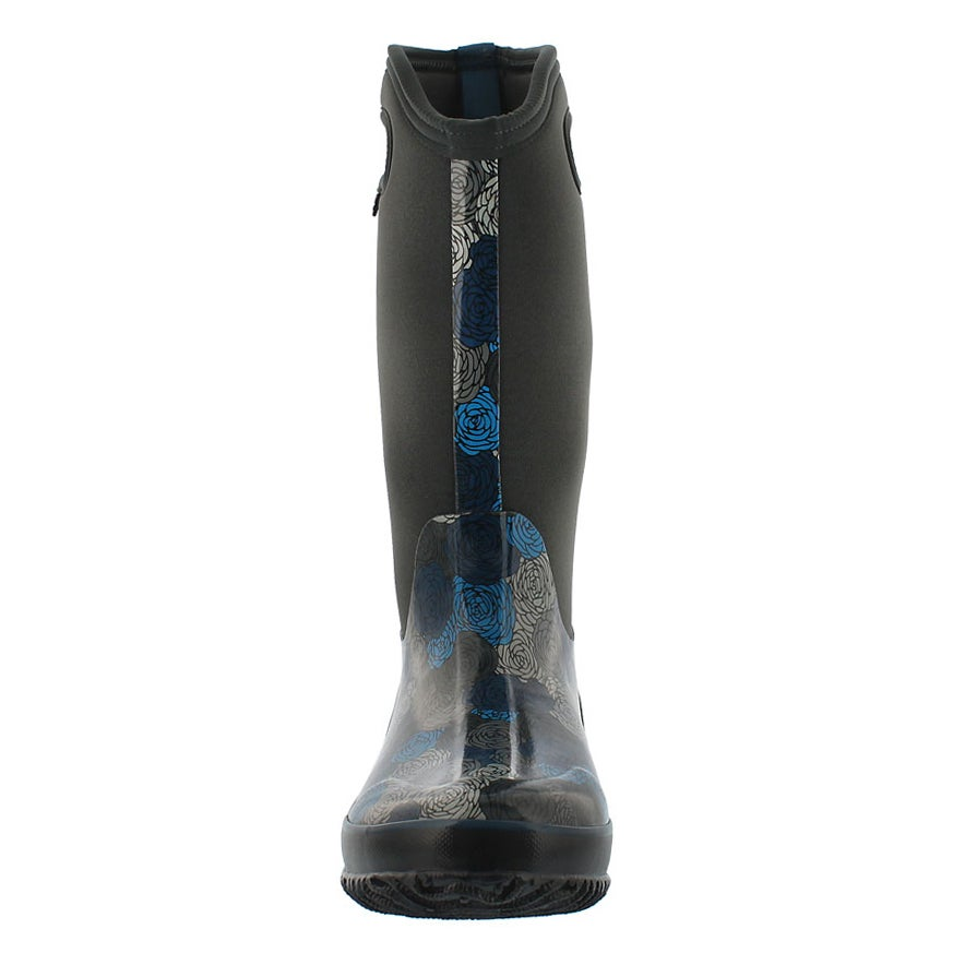 Lds Classic Rosey Tall dk gry wtpf boot