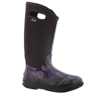 Bogs Bottes imperméables CLASSIC ROSEY TALL, prune, fem