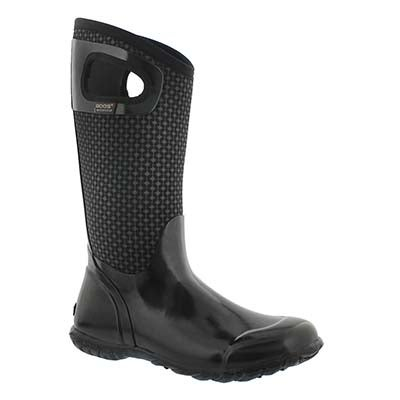 Bogs Women's NORTH HAMPTON CRAVAT blk waterproof boots