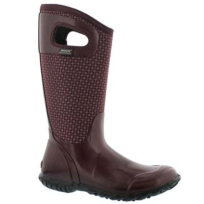 Bogs Women's NORTH HAMPTON CRAVAT ppl waterproof boots