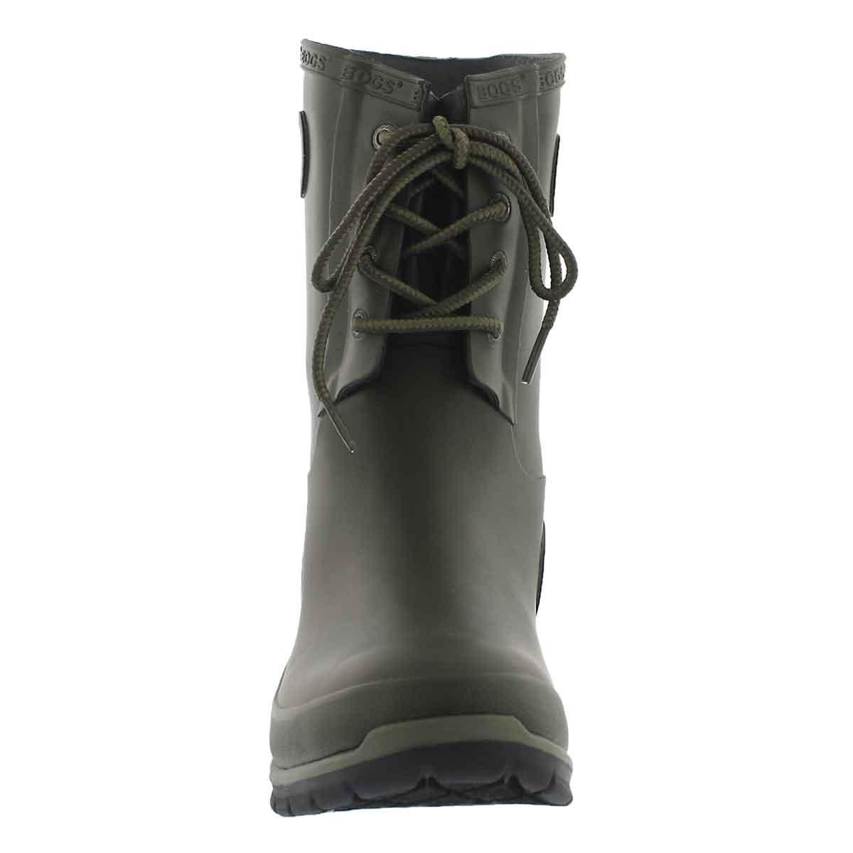 Lds Amanda 4-Eye drk grn wtpf rain boot