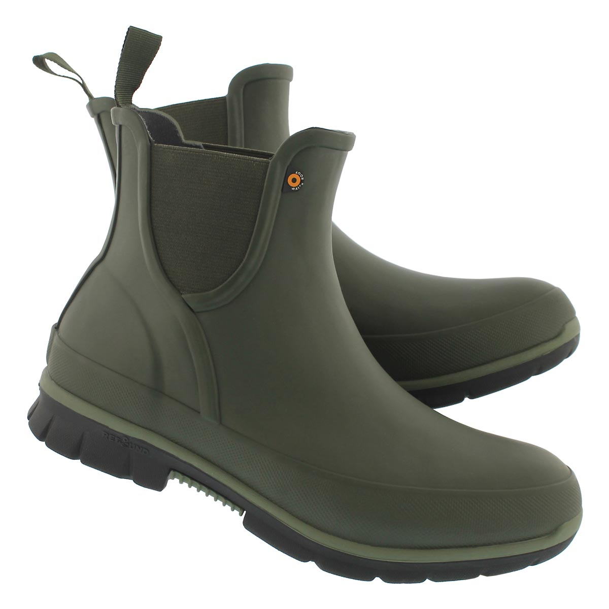 Lds Amanda drk grn wtpf low rain boot