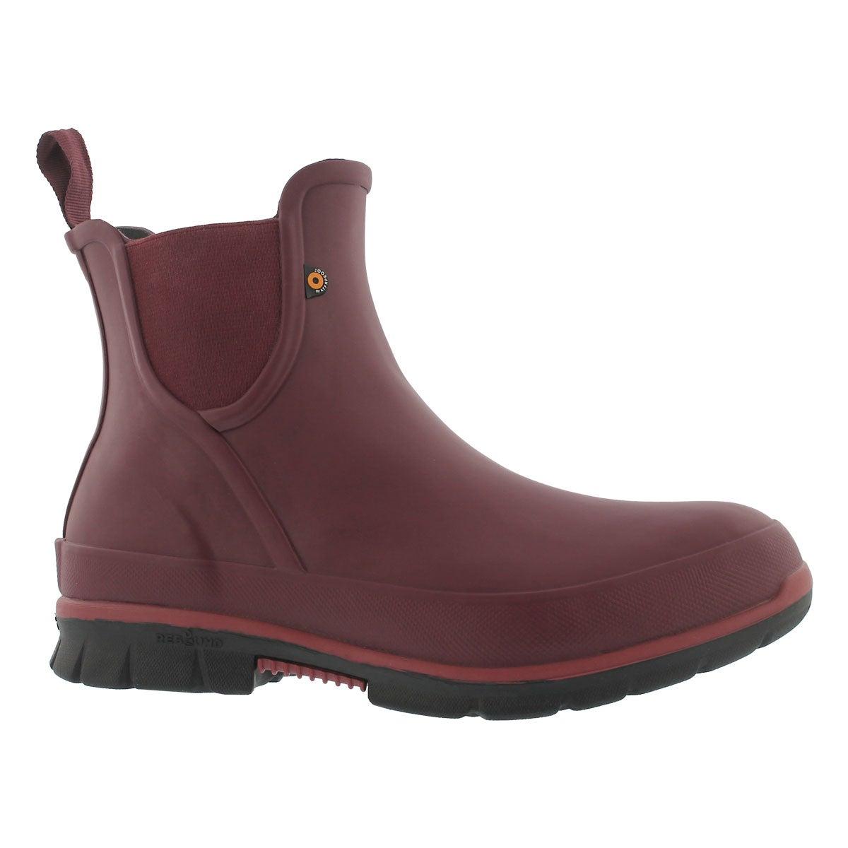 Women's AMANDA burgundy wateproof low rain boots