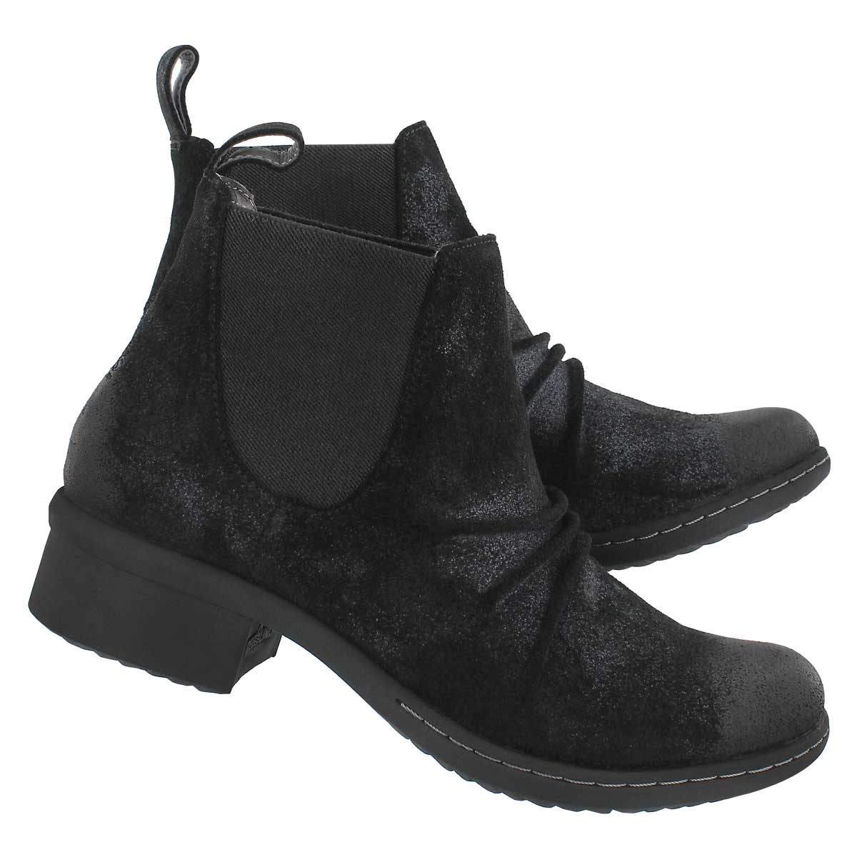 Lds Auburn black wtpf slip on ankle boot