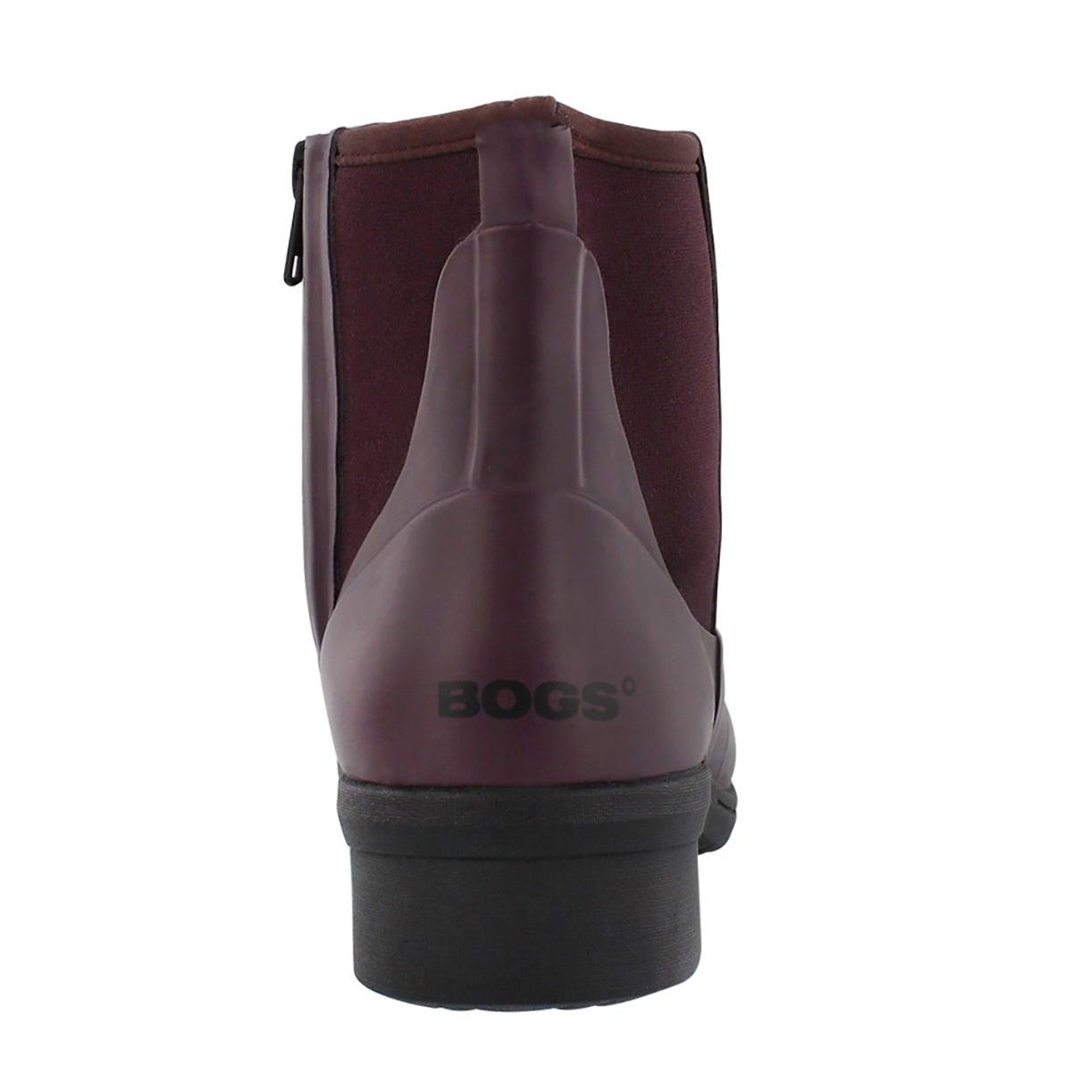 Lds Auburn wine wtpf slip on wntr boot