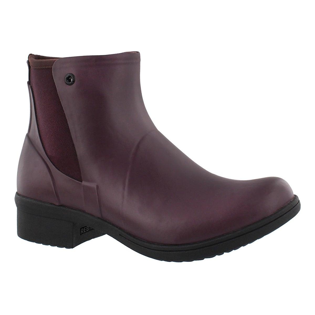 Women's AUBURN wine wtpf slip on winter boots
