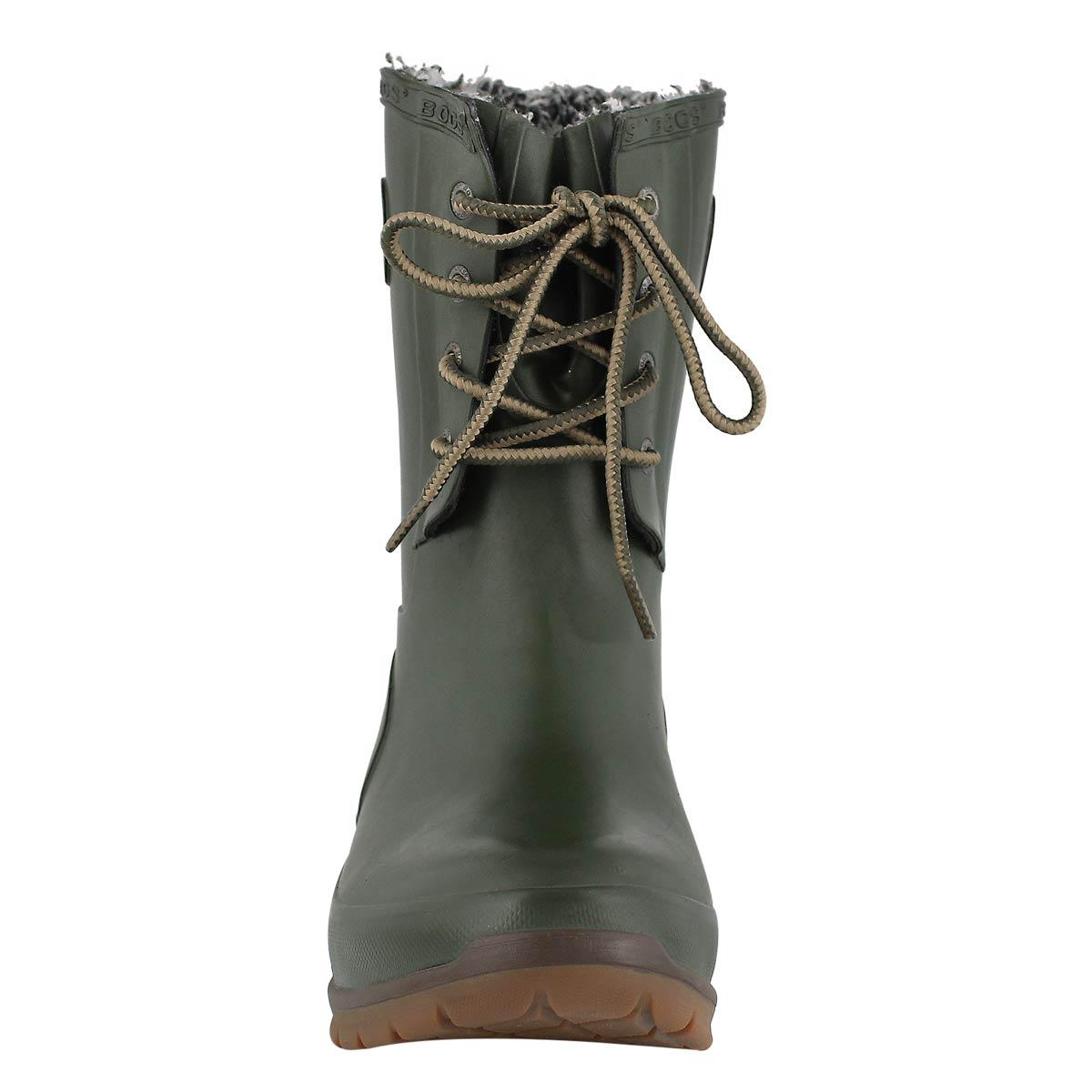 Lds Amanda Plush Lace dk green wtpf boot