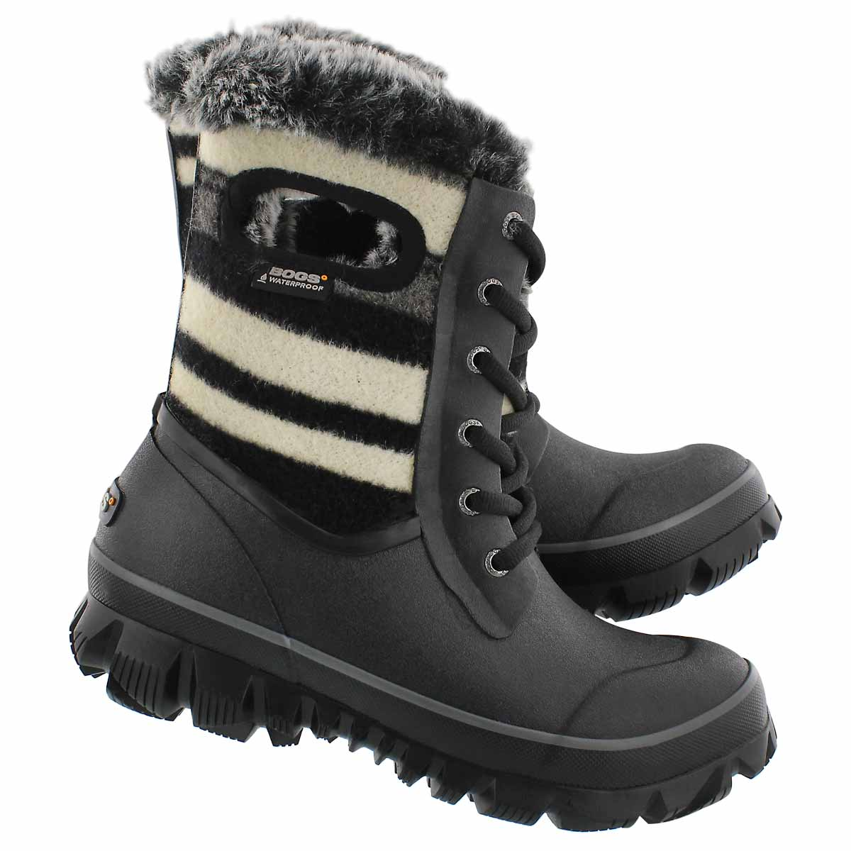 Lds Arcata Stripe blk multi wtpf boot