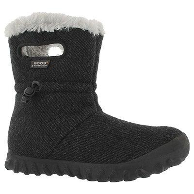 Lds B-Moc Wool black wtpf boot