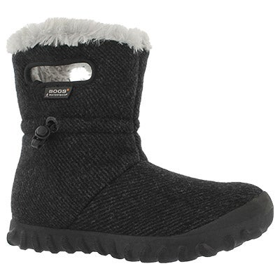 Lds B-Moc Wool black wtpf boot