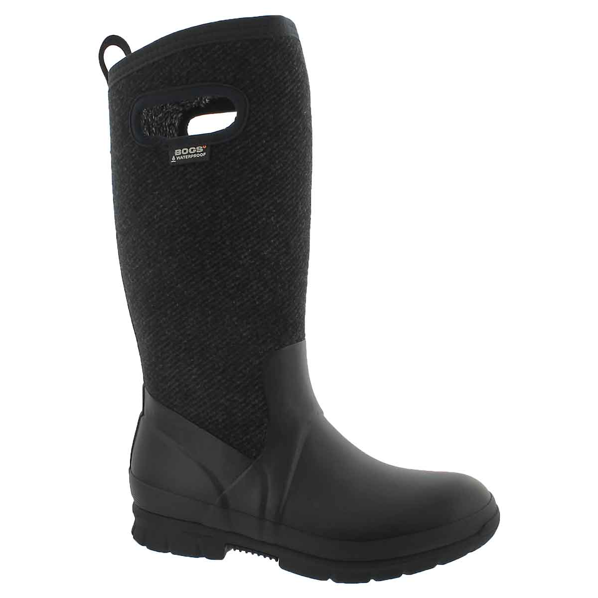 Lds Crandall Tall Wool blk wtpf boot