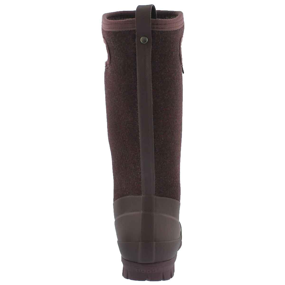 Lds Crandall Tall Wool plum wtpf boot