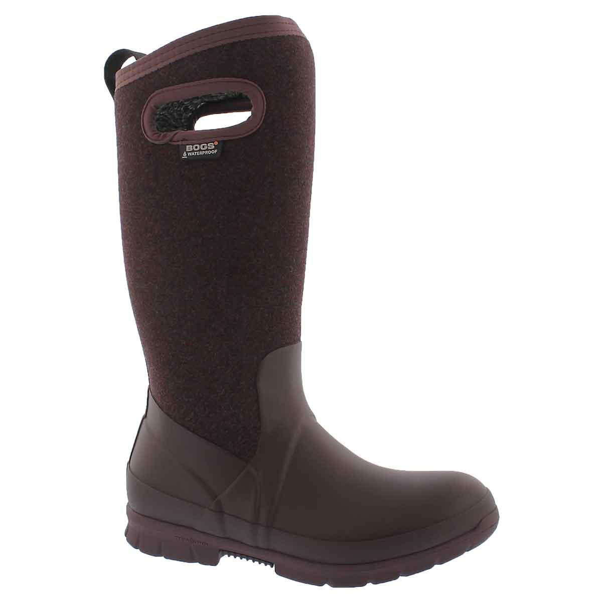 Women's CRANDALL TALL WOOL plum wtpf boots