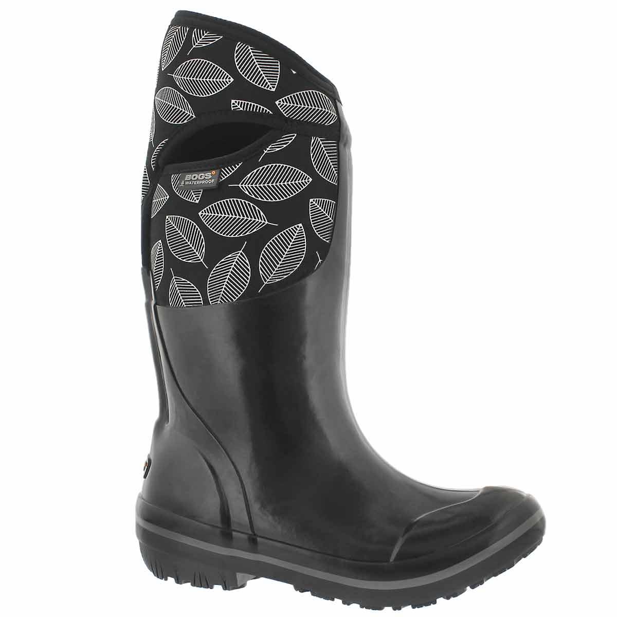Women's PLIMSOLL LEAFY TALL black wtpf boots