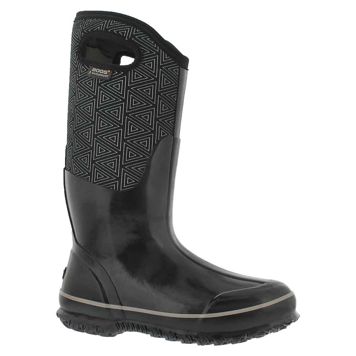Women's CLASSIC TRIANGLES black multi wtpf boots