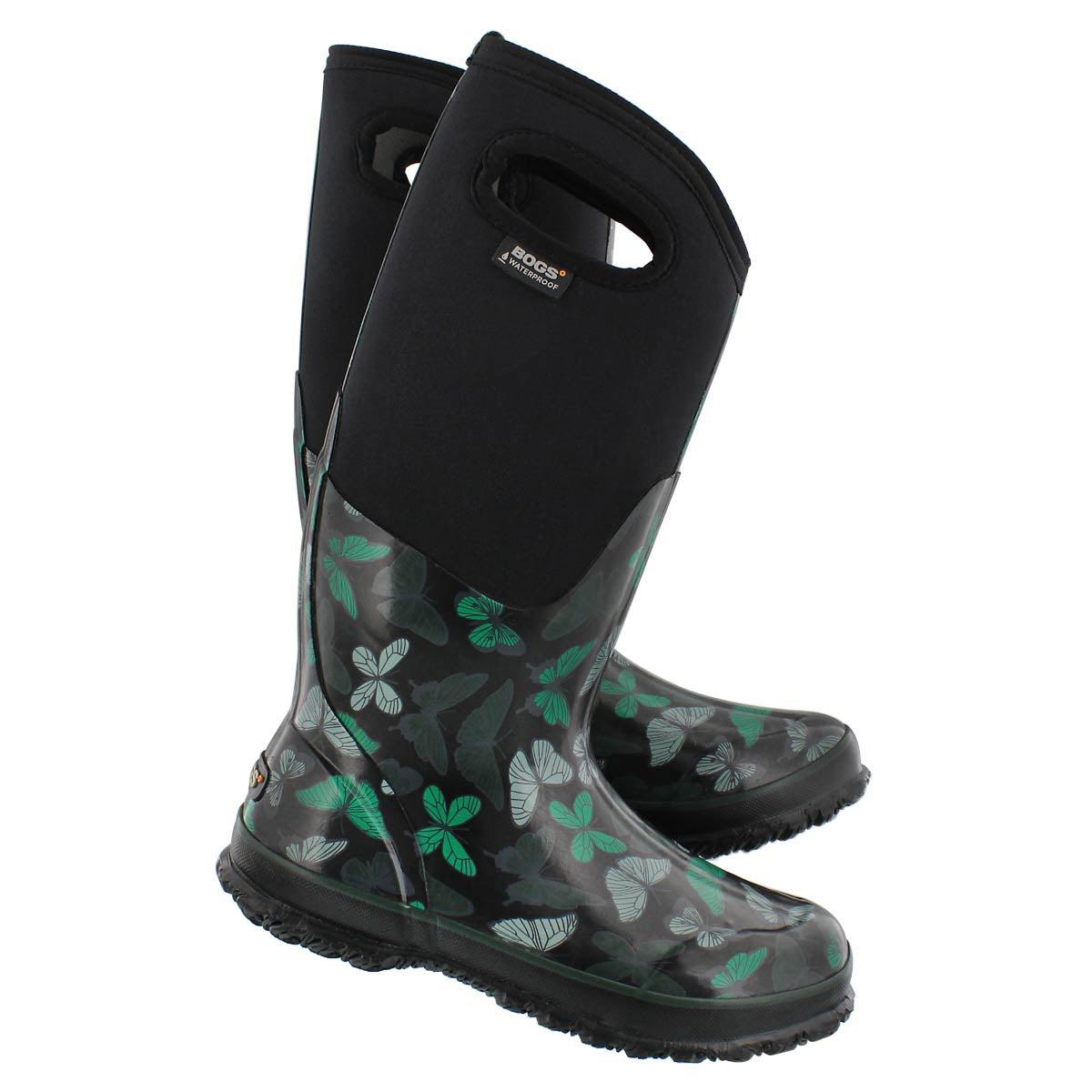 Lds Classic Butterflies black wtpf boot