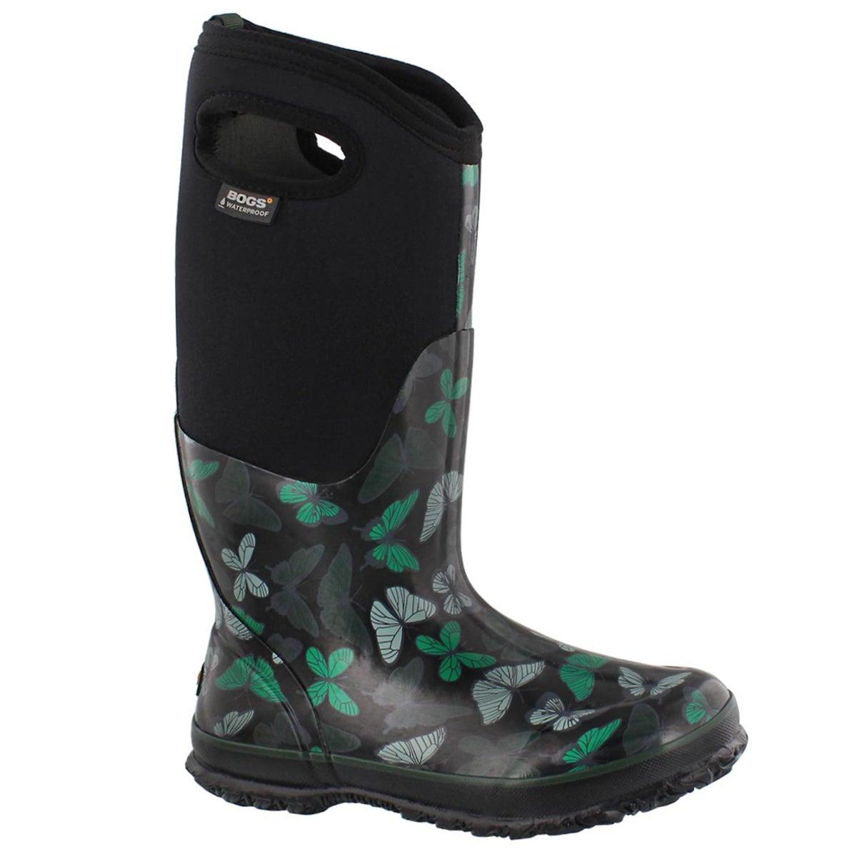 Women's CLASSIC BUTTERIES black waterproof boots