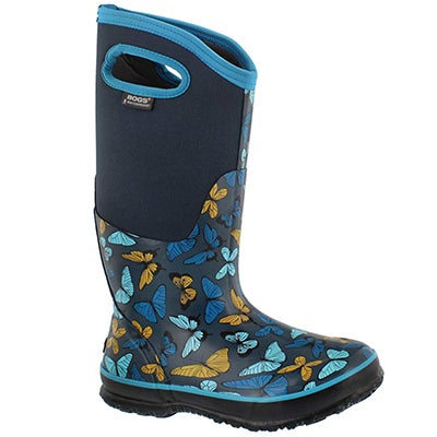 Lds Classic Butterflies navy wtpf boot