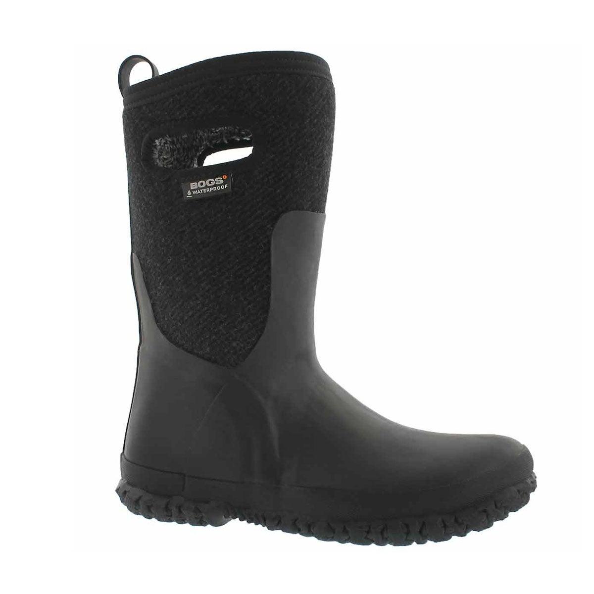 Kids' CRANDAL WOOL black waterproof boots