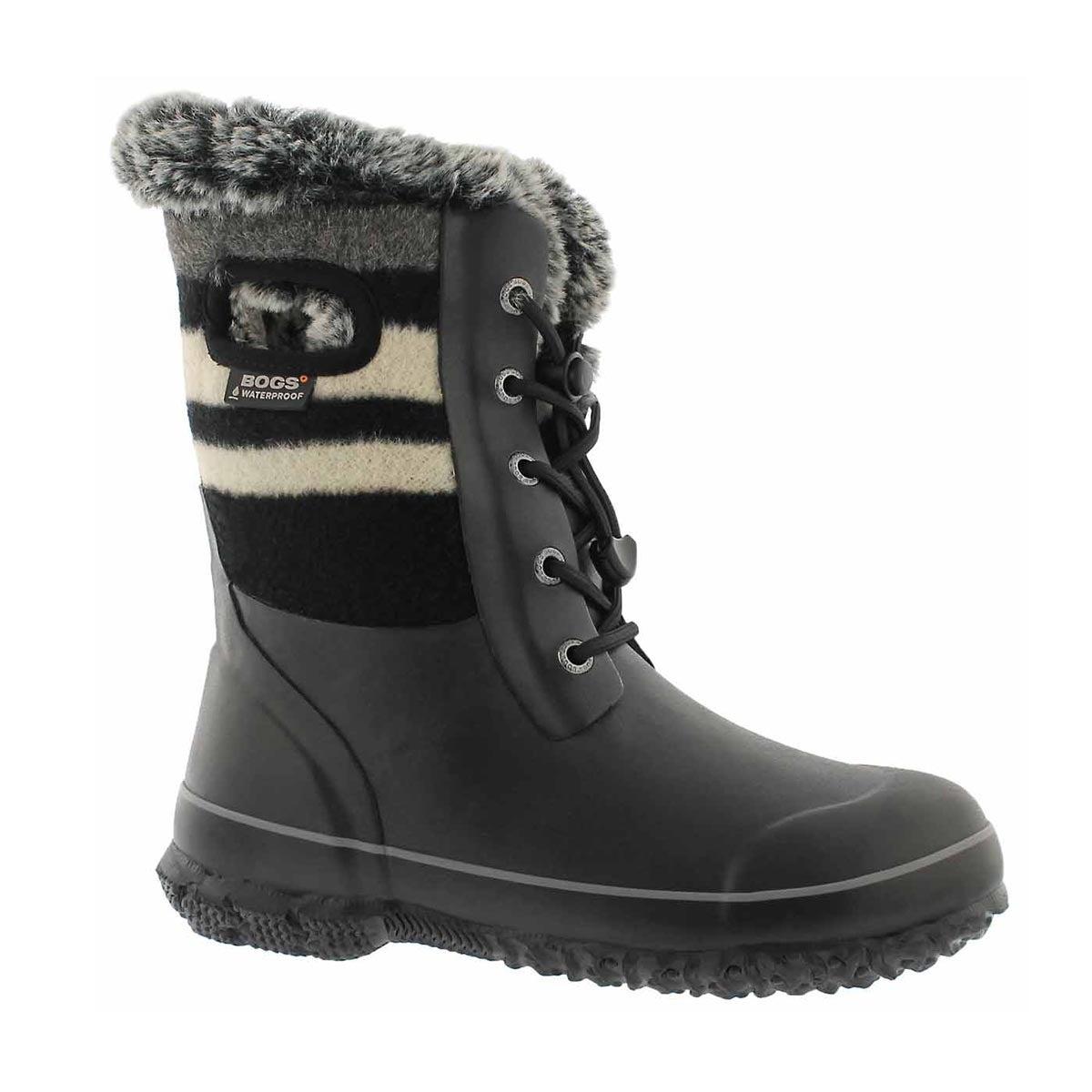 Girls' ARCATA WOOL STRIPE black multi wtpf boots