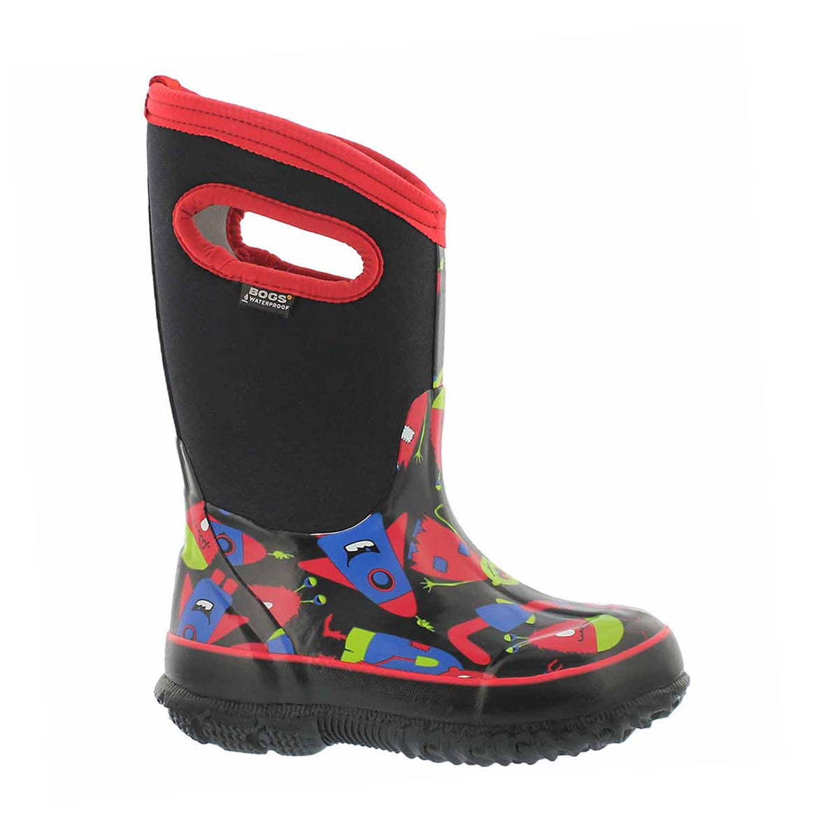 Boys' CLASSIC MONSTER black multi wtpf boots