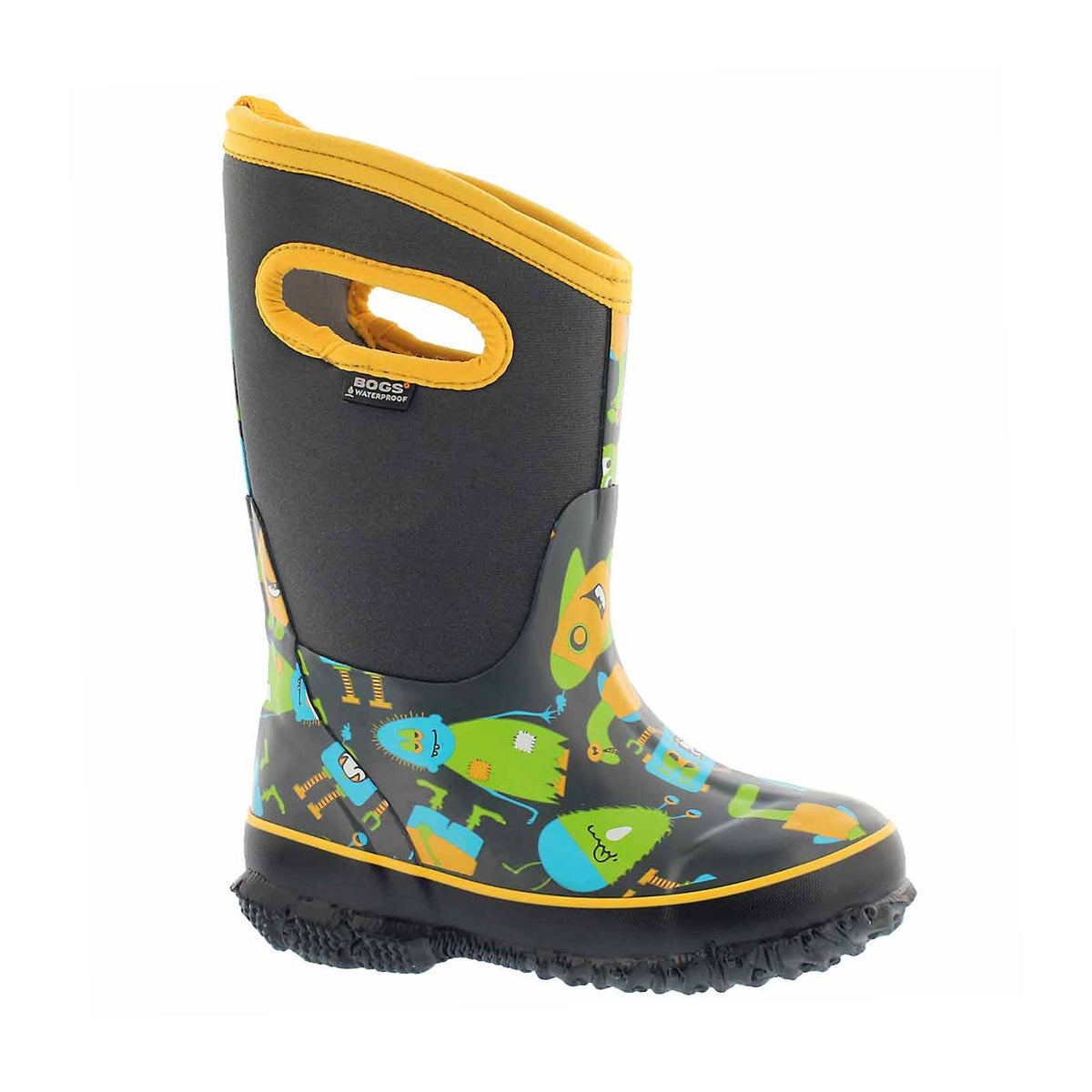 Boys' CLASSIC MONSTER grey multi wtpf boots