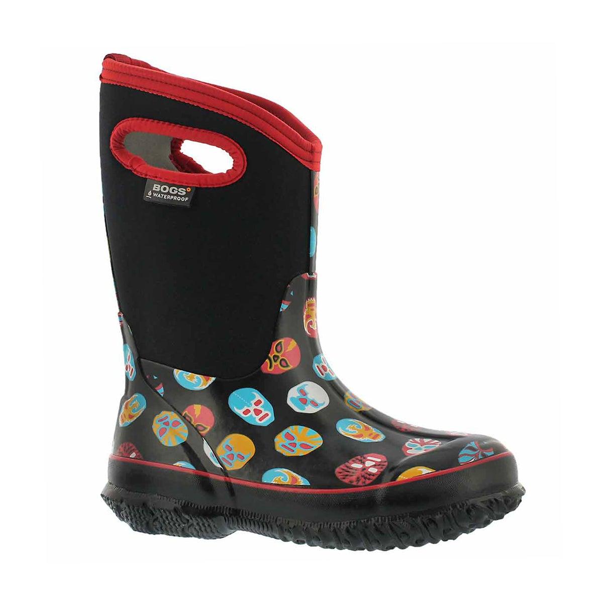Boys' CLASSIC MASK black multi waterproof boots