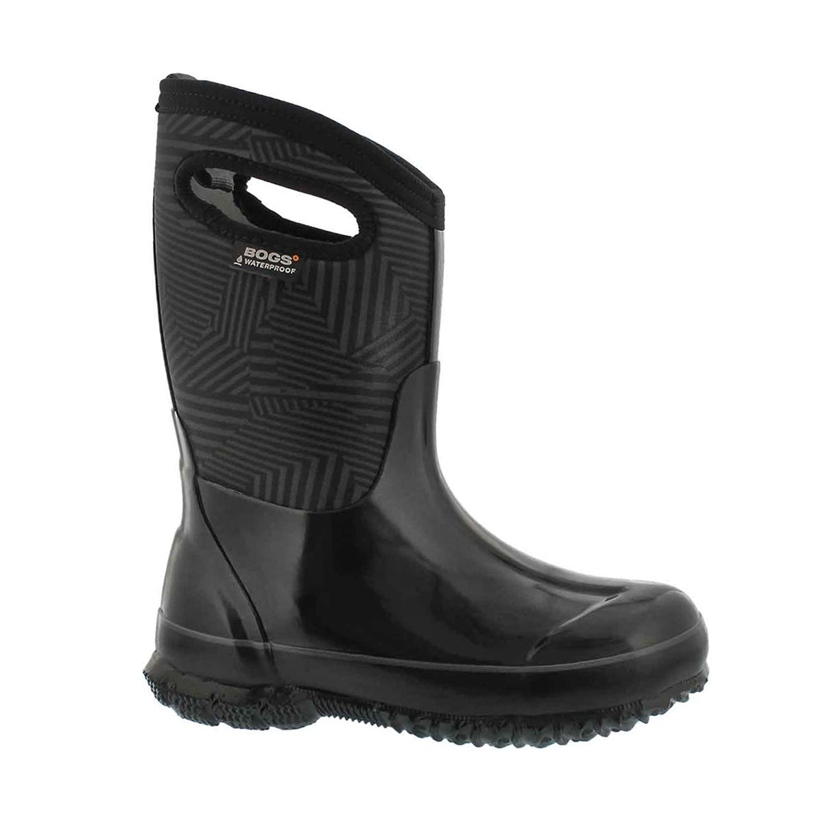 Boys' CLASSIC PHASER black multi waterproof boots