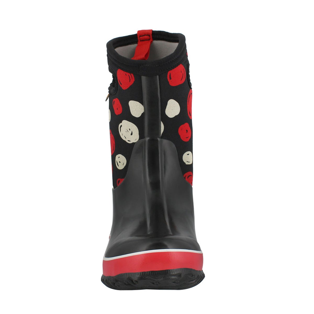 Grls Classic Sketched Dots blk wtpf boot