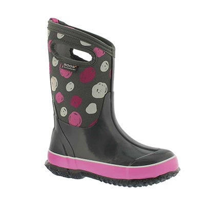 Grls Classic Sketched Dots gry wtpf boot