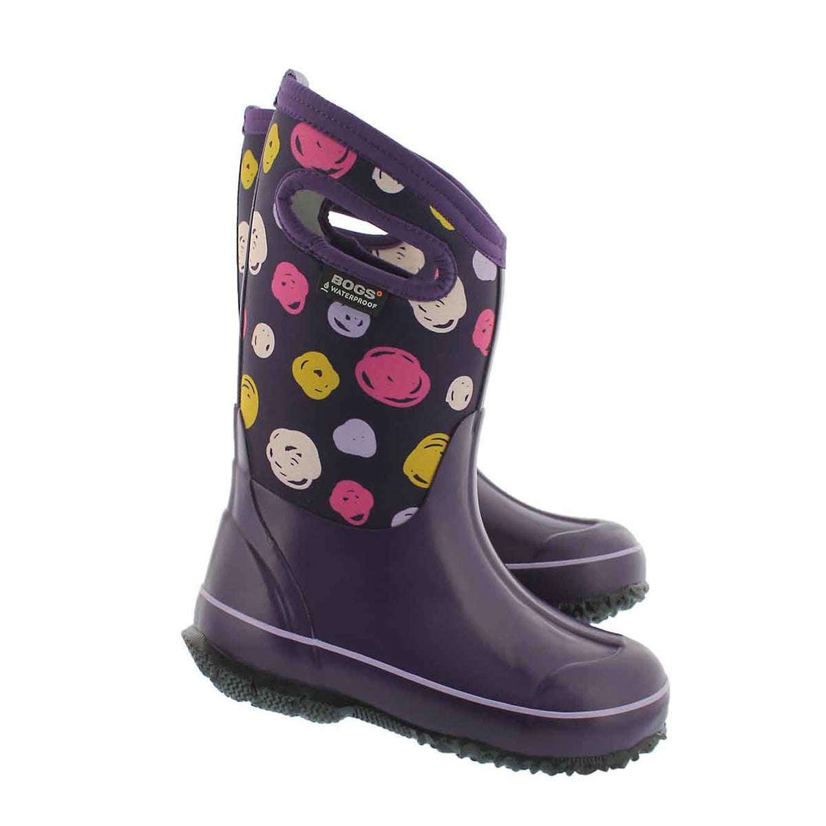 Grls Classic Sketched Dots ppl wtpf boot