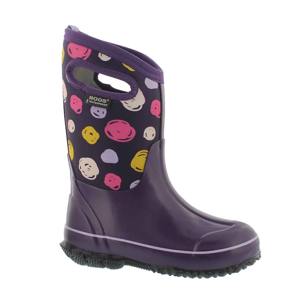 Girls' CLASSIC SKETCHED DOTS ppl waterproof boots