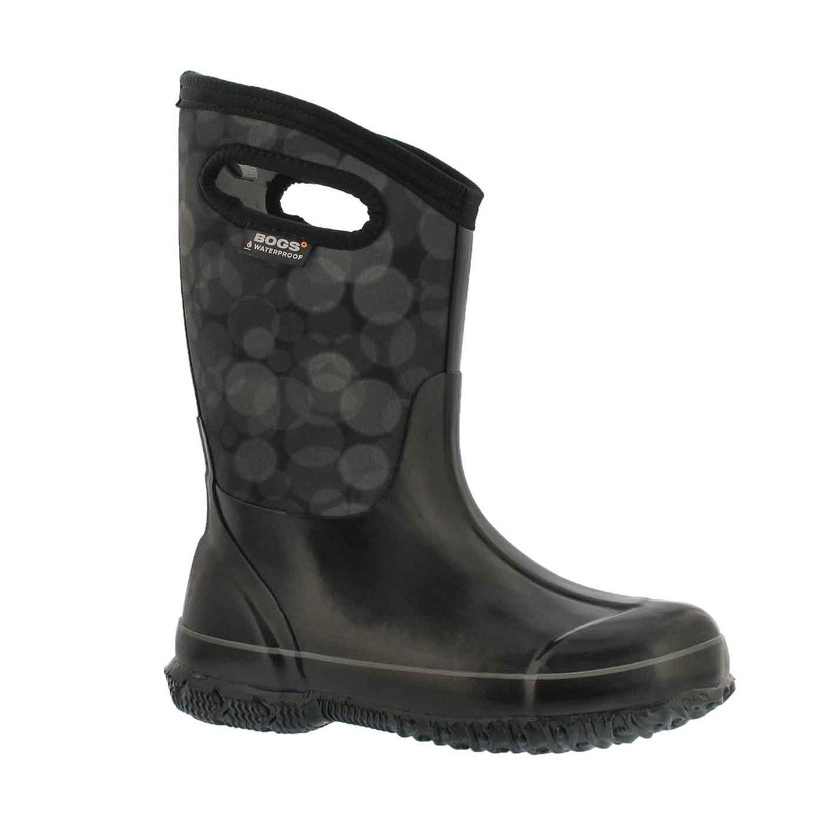 Girls' CLASSIC RN black multi waterproof boots