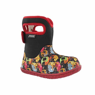 Inf-b Kiddy Cars black multi wtpf boot
