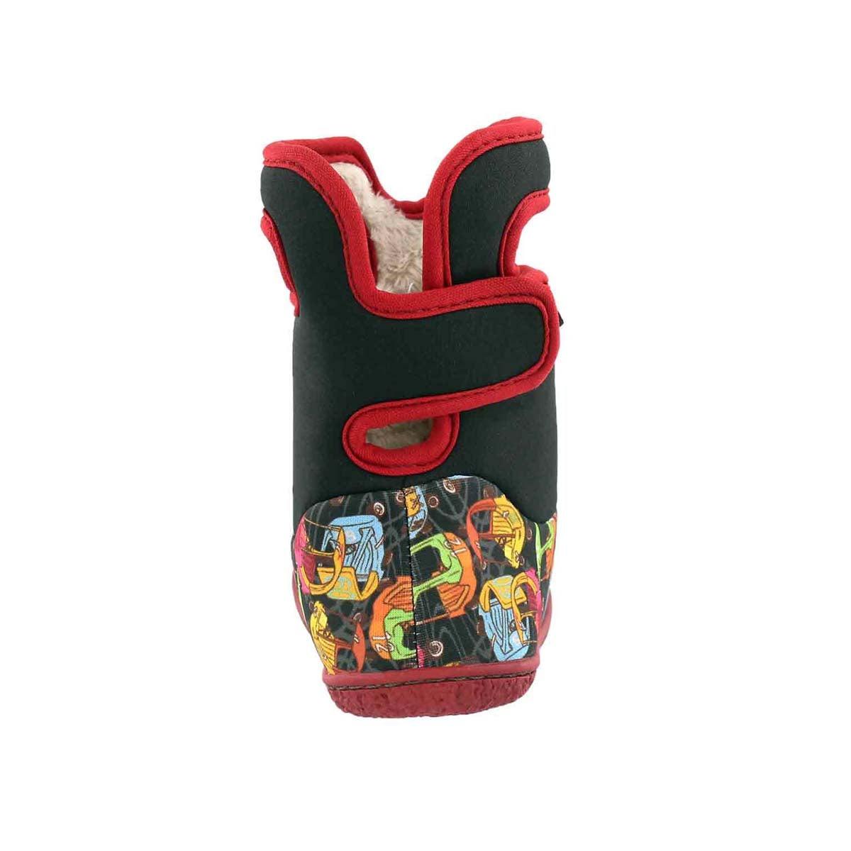 Inf-b Kiddy Cars black multi wtpf boot