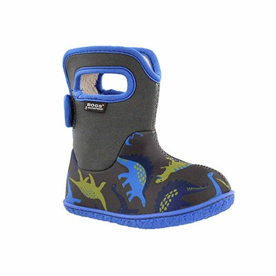 Inf-b Dino dk grey multi wtpf boot
