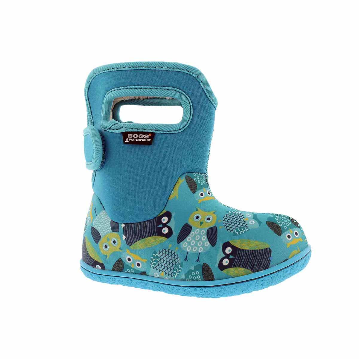 Infant girls' OWLS blue multi boot