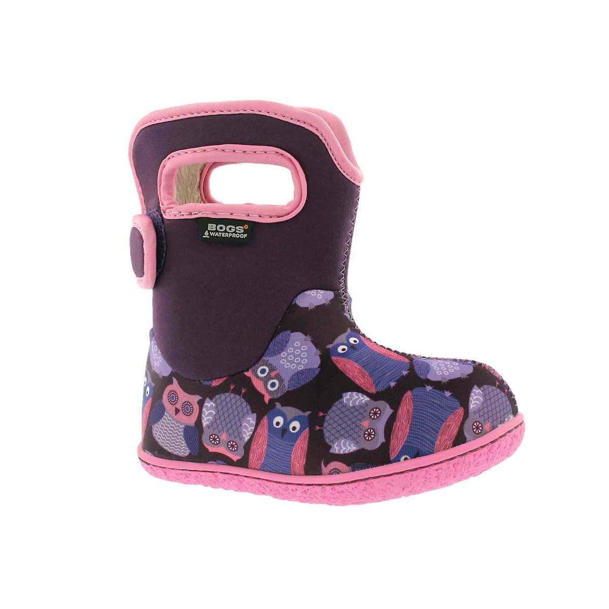 Infant girls' OWLS purple multi boot