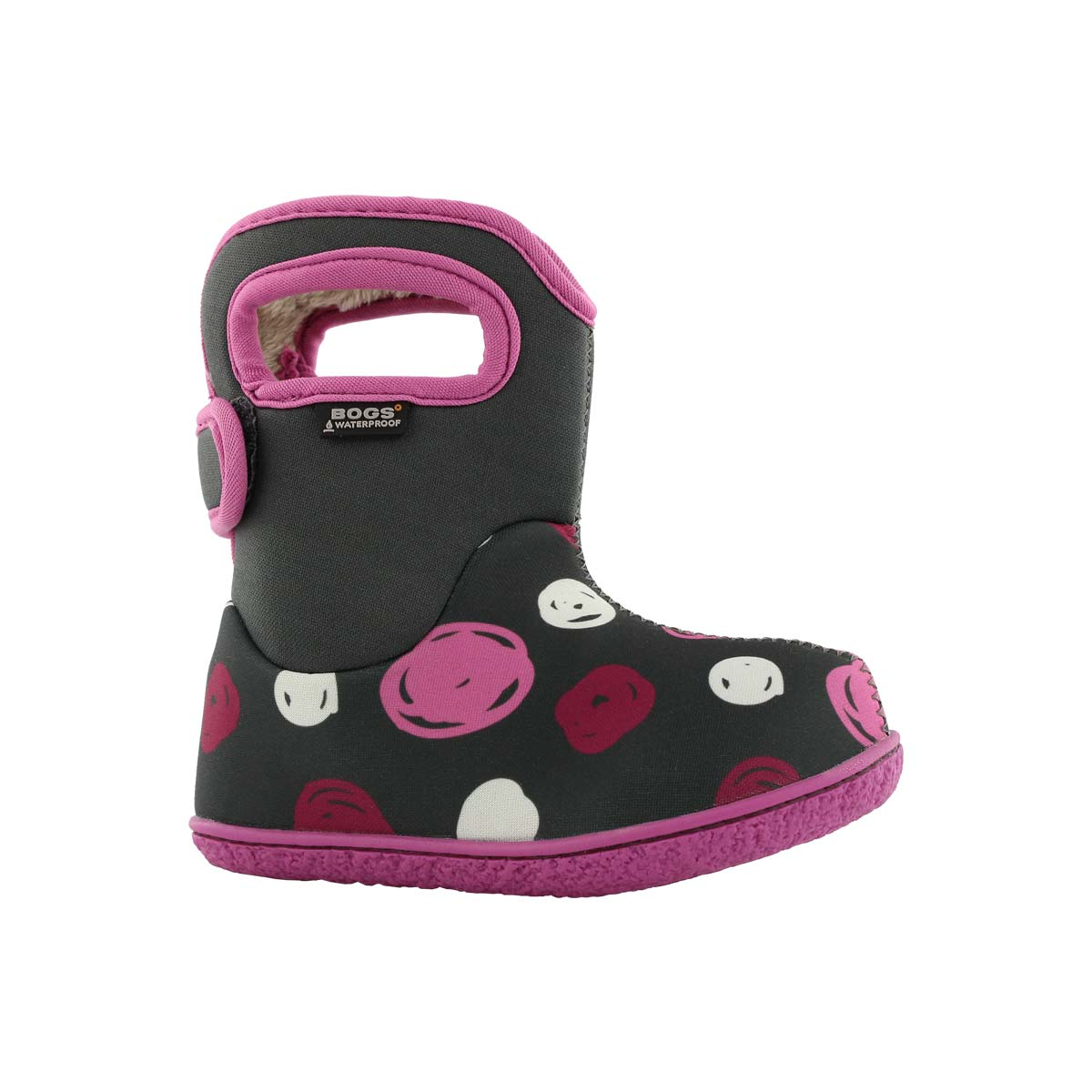 Infant girls SKETCHED DOTS grey multi boot