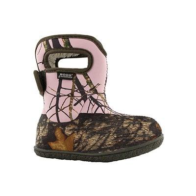 Inf-g Mossy Oak pink wtpf boot