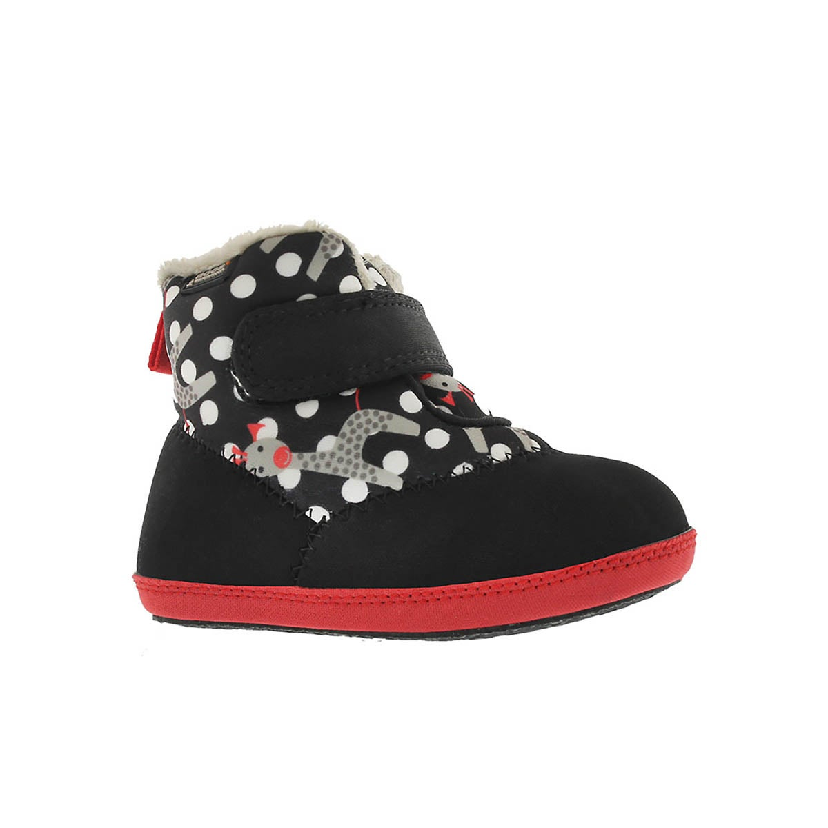 Infants' ELLIOT GIRAFFE blk multi waterproof boots