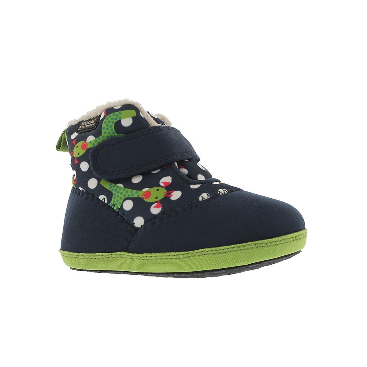 Infants' ELLIOT GIRAFFE blue multi waterproof boot
