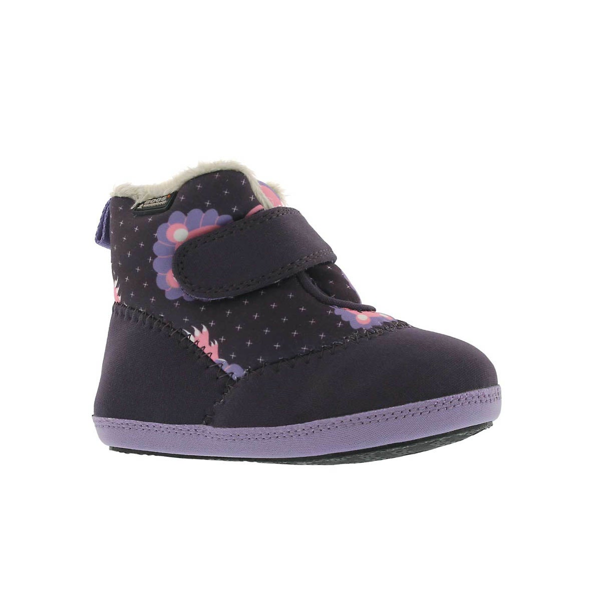 Infants' ELLIOT LION purple multi waterproof boots