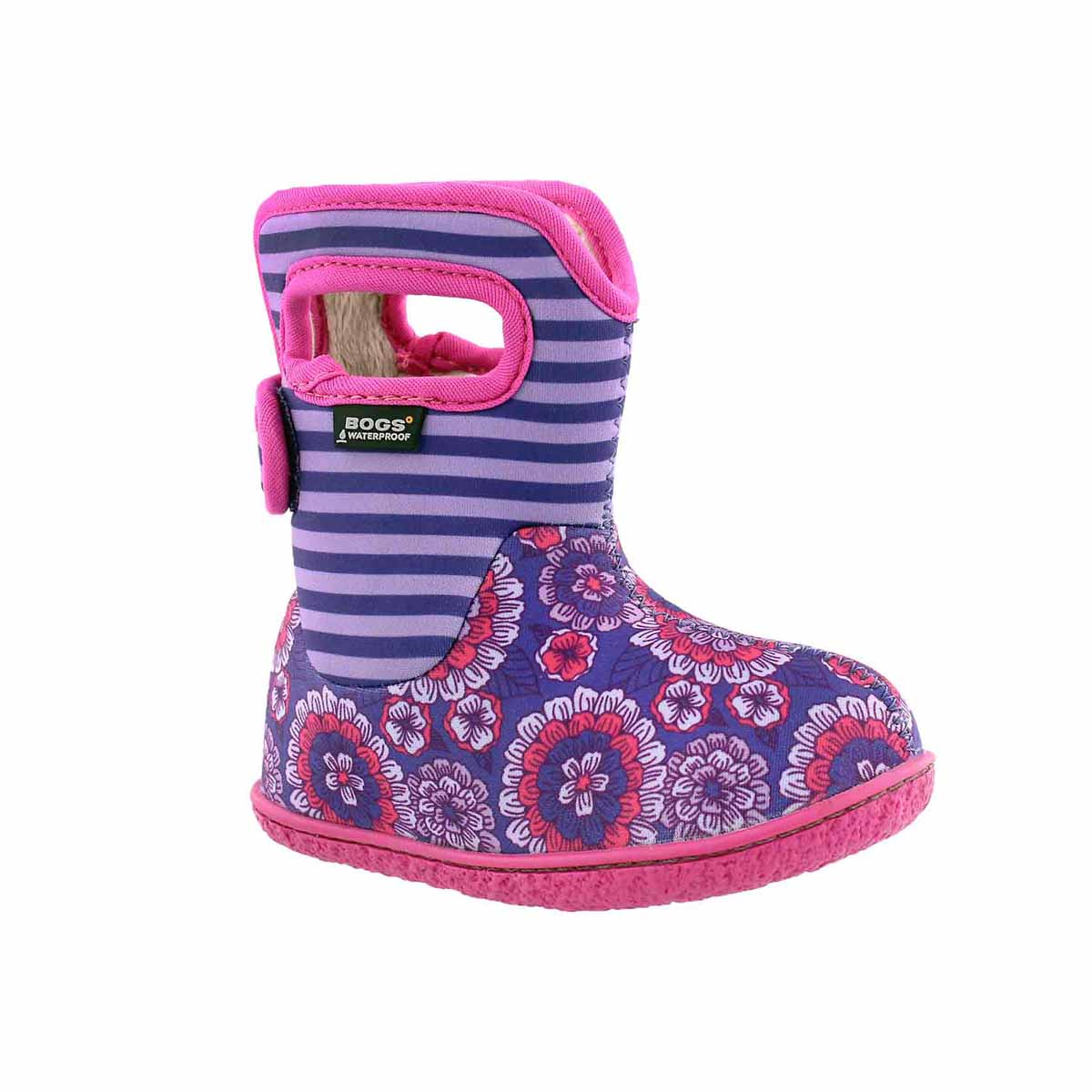Infant girls PANSY STRIPE voilet boot