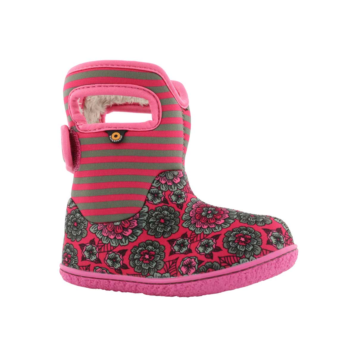Inf-g Pansy Stripe pink mlt wtpf boot
