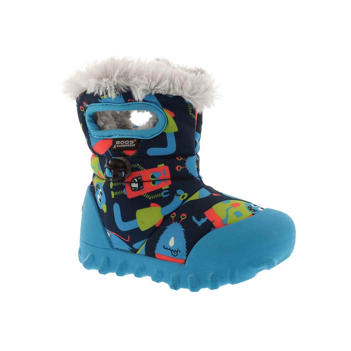 Infant BOYS B-MOC MONSTERS dark grey multi boot