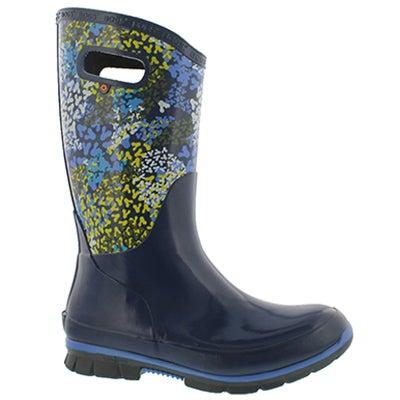 Lds Berkley FP blu mlti wtpf rain boot