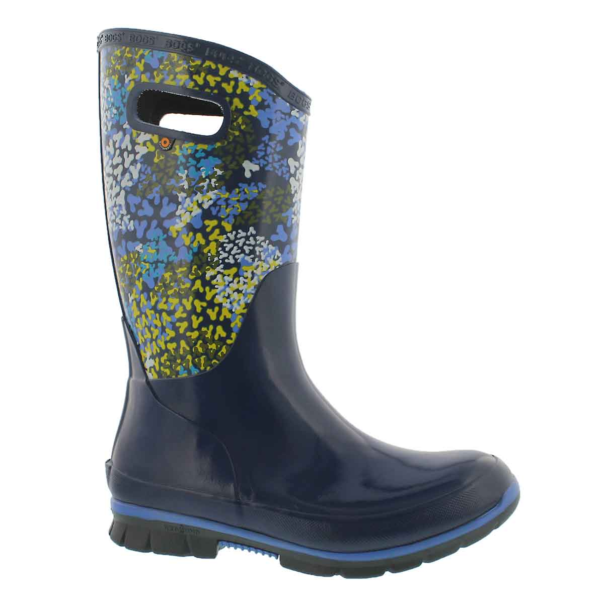 Women's BERKLEY FP blu multi waterproof rain boots