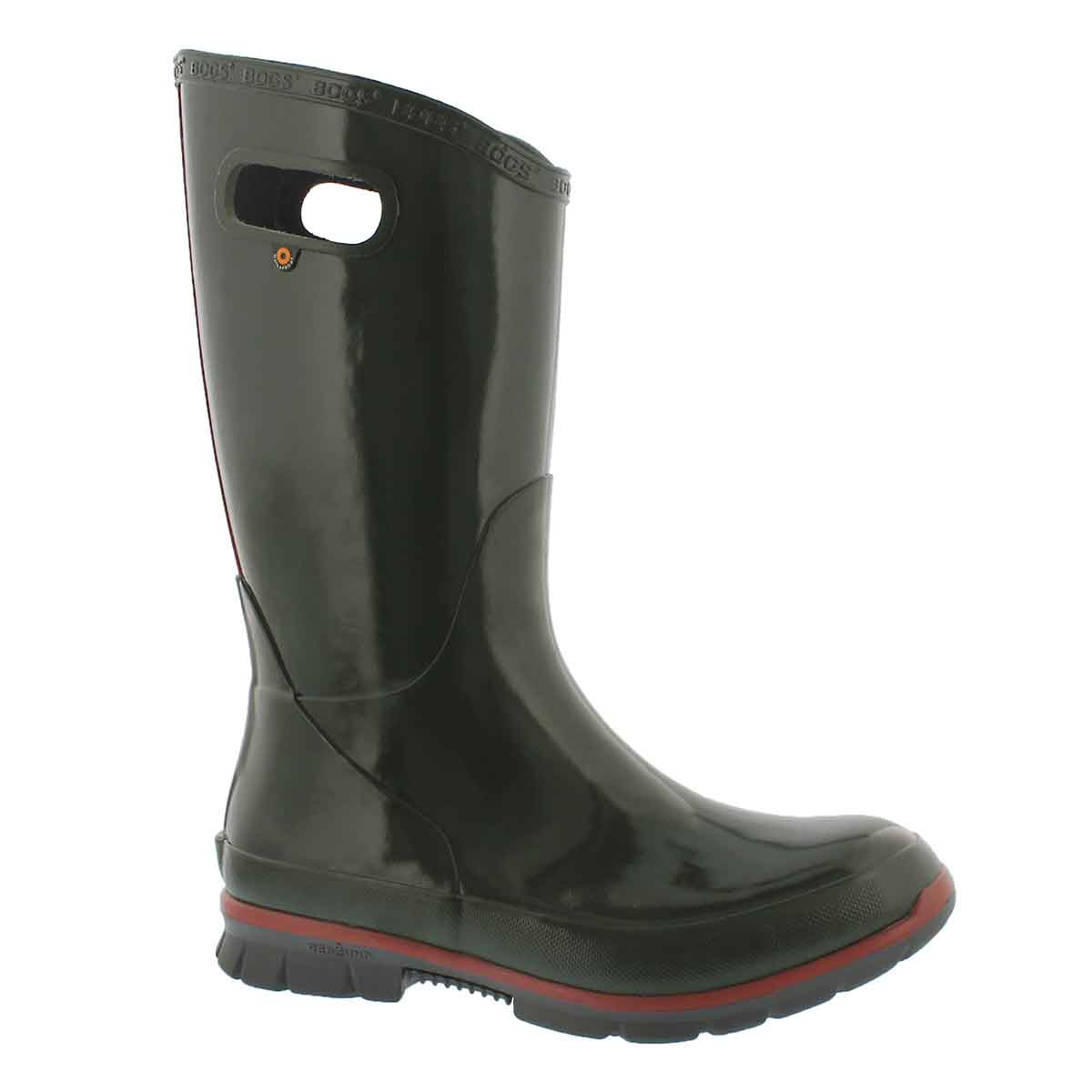 Women's BERKLEY dark green waterproof rain boots
